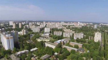 Modern city . Aerial panorama of Kiev, capital of Ukraine — Стоковое видео