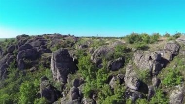 Beautiful rocks in   canyon . Aerial  low height with turn — Stock Video