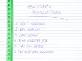 New Year's resolutions — Stock Photo