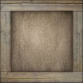 Wooden frame with old canvas inside — Foto de Stock
