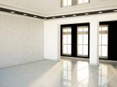 Empty room with contrast colors — Stok fotoğraf