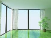 Room with large windows — Stock Photo