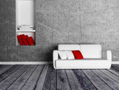 the niche and a sofa — Stock Photo
