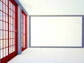 Empty room with a balcony — Stok fotoğraf
