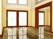 Empty room wiht a doorway — Stock Photo