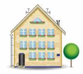 Plastered house — Stock Vector