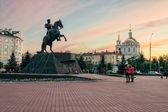 Monument to General Yermolov, Orel city, Russia — Stock Photo