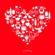 Valentine's day card — Stock Vector #66098007