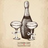 Vintage valentine's day card — Stock Vector