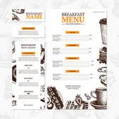 Breakfast menu background — Stock Vector