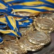 Gold medals for first place — Stock Photo #60445971