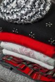 Stack of winter clothes  — Stockfoto