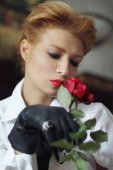 Thoughtful rose — Stock fotografie