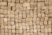 Shell rock building blocks stacked rows — Stock Photo