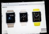 Apple Computers website announcement Apple Watch — Stock Photo