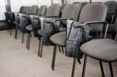 Row of chairs in conference rom university — Stock Photo