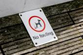 No fouling sign — Stock Photo