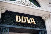 BBVA - Banco Bilbao Vizcaya Argentaria headquarter in Madrid — Stock Photo