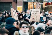 Mass unity rally held in Strasbourg following recent terrorist a — Stock Photo