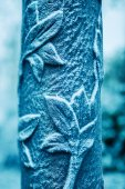 Rime on street light ornament — Stock Photo