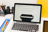 Apple launches Apple Watch, MacBook Retina and Medical Research  — Stockfoto