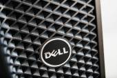 Dell Computers logo on workstation computer — Foto Stock