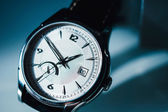 Luxury watch on blue background — Foto de Stock