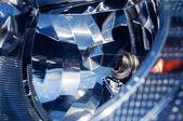 Car headlight close-up xenon — Stock Photo