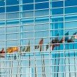 Flags reflected in European Parliament — Stock Photo #73064789