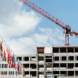 All European Countries flags with construction building crane in — Stock Photo #74254731