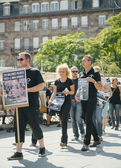 Sea Shepherd protesting against slaughter pilot whales arrest of — Stock Photo
