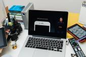Computadores Apple ipad novo Pro, iphone 6s, 6s Plus e Apple Tv — Fotografia Stock