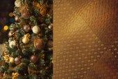 Christmas-tree with decorations — Stockfoto