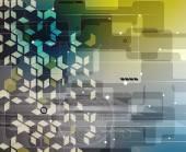 Abstracte technologie achtergrond zakelijke & ontwikkeling — Stockvector