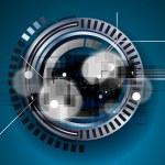Machine technology gears. retro gearwheel mechanism bacground — Stock Vector #58946993