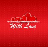 Fundo de inverno feliz dia dos namorados. ilustração em vetor cartão — Vetor de Stock