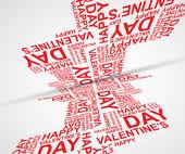 Happy Valentines Day invitation template. card design illustrati — Stock Vector