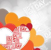 Szczęśliwy szablon zaproszenia Walentynki. Karta projektu illustrati — Wektor stockowy