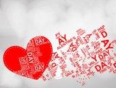 Happy Valentines Day uitnodiging sjabloon. kaart ontwerp illustrati — Stockvector