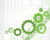 High tech eco green infinity computer technology concept backgro — Stock Vector