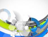 Abstract technology background Business & development direction — Vecteur