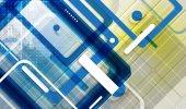 Abstract tech background. Futuristic technology interface. Vecto — Stock Vector
