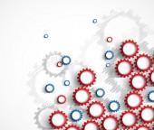 Machine technology gears. retro gearwheel mechanism bacground — Stock Vector
