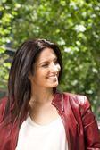 Smiling pretty brunette woman — Stock Photo