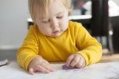 絵画を赤ちゃん — ストック写真