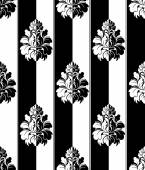 Seamless monochrome damask vintage pattern. Striped — Stock Vector