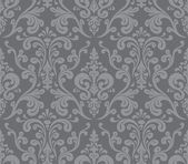 Vector. Seamless elegant damask pattern. Grey — Stock Vector