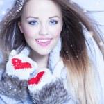 Woman wearing winter hat — Stock Photo #62531845