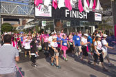 Race for the cure awareness Portland Oregon event. — Stock Photo