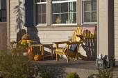 Halloween decorations on a porch. — Stock Photo